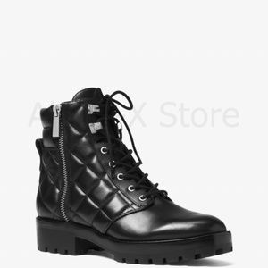 NWT Michael Kors Rosario Leather Combat Boot